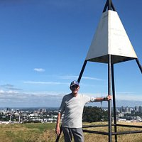 Mt Hobson, Auckland - the Trig at the top