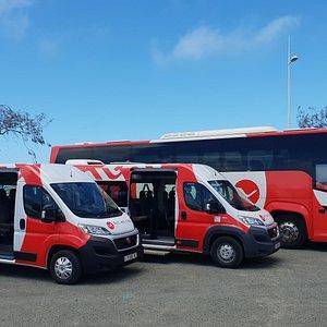 Bus 8 places, Bus 16 places, Bus 50 places
