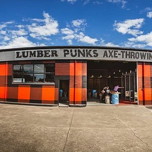 Our Brisbane Venue... on site parking for 9 vehicles, 19 x Lanes of Axe Throwing fun as well as the Vault Arcade Room, The Armoury Vintage clothing store and more.