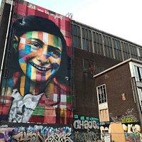 The Anne Frank mural by Eduardo Kobra, former NDSM Wharf, Amsterdam.