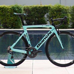 BIanchi´s most popular bike of 2018 the Bianchi Aria road racing bike.