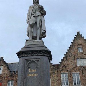 Hans Memling Statue in Bruges