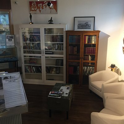 Library full of military books throughout the past centenary