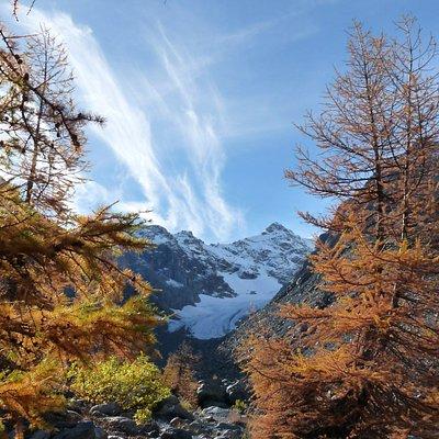 Un tratto del percorso glaciologico Vittorio Sella in Val Ventina (Valmalenco).