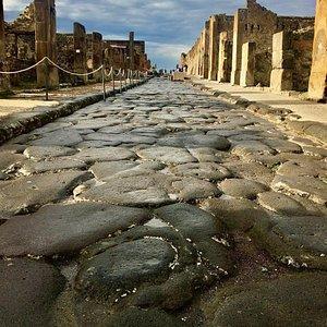 Ancient paved roman street