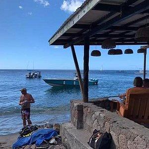 Anse Chastnet Beach Bar.