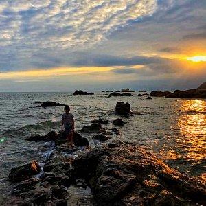 Tianya Haijiao (天涯海角), which means Edges of the heaven, corners of the sea.