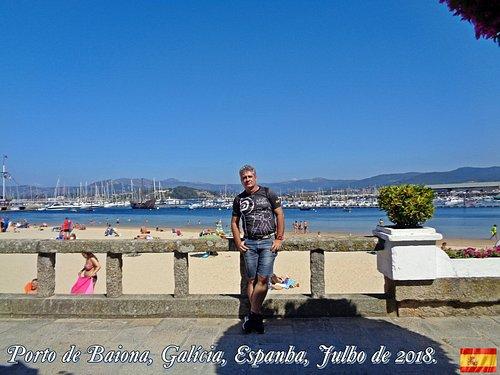 Porto de Baiona, de onde saiu a Caravela Pinta, Galícia, Espanha