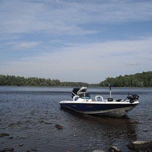 Peter's boat on Ponhook Lake.