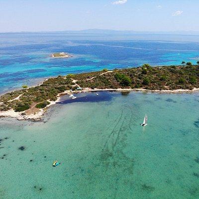 Surf Vourvourou drone view