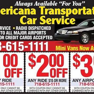 Americana Transportation discount coupons.