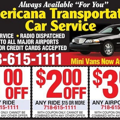 Americana Transportation discount coupons.