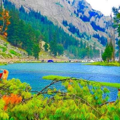 Mahodand is a high mountain lake at an elevation of 2.865m (9,400ft) above the sea level, located in the Khyber Pakhtunkhwa province of Pakistan. X    The lake, also known as Mahudand, lies at the foothills of Hindu kush mountains. The road to the lake is gravel. Only 4x4. It's tricky and bumpy. It's called Saifullah Lake Road. It's 24.0 km long from Matiltan. Drive with care as this is a mountain road with hairpin curves and dangerous dropoffs.  Only 4x4. https://www.tourmover.com/