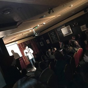 An absolutely packed room at Jetway this week, with more great free comedy coming this Thursday!