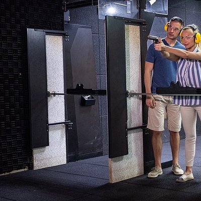 JA Shooting Club features a 25-metre indoor, air-conditioned pistol shooting range.