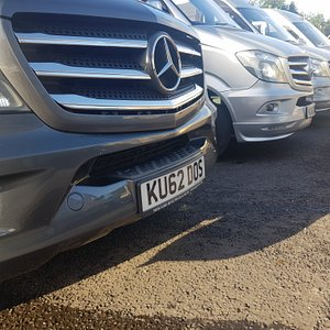 Just some of our VIP Mercedes Sprinter vehicles...….we love the fact that our company name is on each of our registration plates.