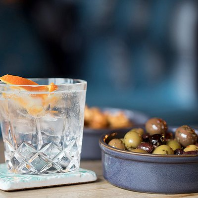 Gin and nibbles
