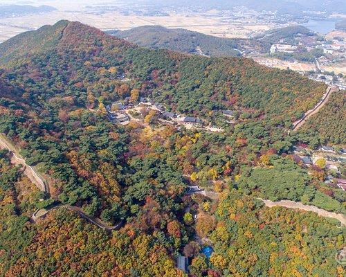 전등사 가을 풍경 항공사진