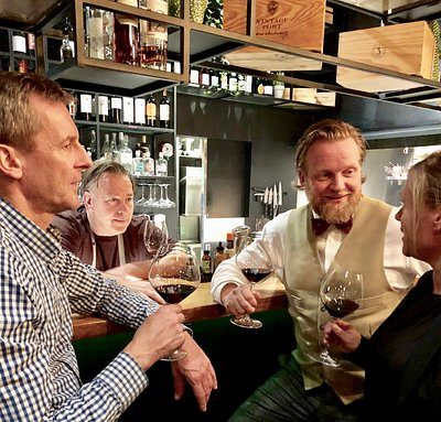 Wine tasting in a local wine bar - one of our hidden gems ! :)