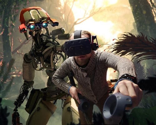 Have you ever dreamed of running around in the jungle with robots? Well, well, well... we offer that and lot`s of more. Every dream is possible in Virtual Reality! :)