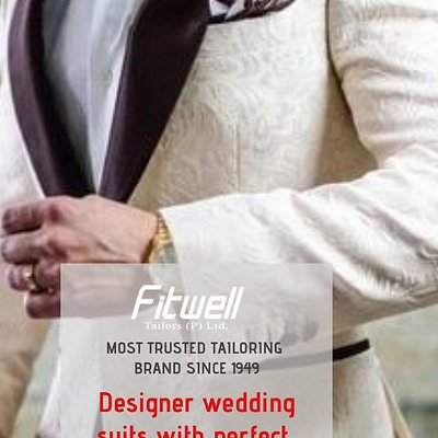 · Fitwell Tailors Bespoke Wedding Suits One-of-a-kind wedding suits tailored to your personal style and taste.We offer a fit guarantee. We won't let you take your suit home until we are both extremely happy with the fit. Book your appointment now Visit - G 8, Capitol Hill Shopping Center, Main Road Ranchi - 834001 Call us +(91)-651-2332678 +(91)-9835326786, 9708534649 for more details go to http://www.fitwelltailors.com/