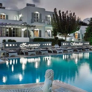 Swimming Pool and Jacuzzi area in Zoumis Studios***