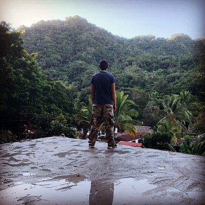 Abraham Martinez of Martinez Mountain Trek contemplating new trails along Sierra Madre mountains.