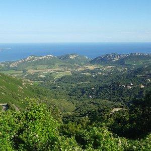 Beautiful view northwards. See road below