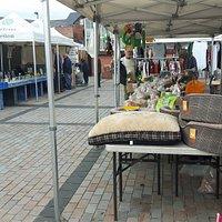 Traders stalls at Neston Market