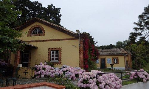 En av originalbyggnaderna på Bordallo Pinheiro i Caldas da Rainha. Foto av Micke Rehn.