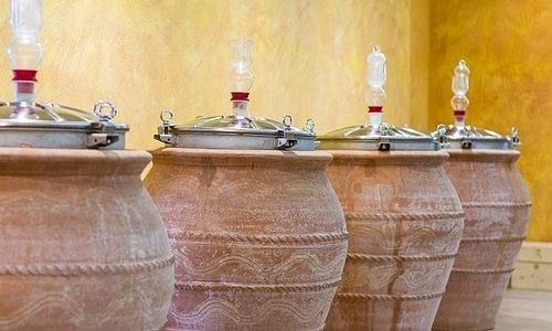 Terracotta amphora barrels, here we have tried to produce our first white wine like ancient romans!