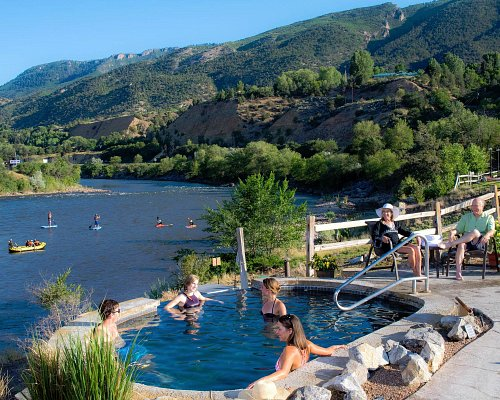 Glenwood Springs is the Land of Water, and there's no better place to enjoy it than Iron Mountain Hot Springs. Soak in pure, hot mineral water as you watch rafters, kayakers and stand-up paddlers making their way down the Colorado River, surrounded by mountain views.