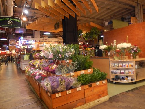 The Reading Terminal flower stand has a great selection