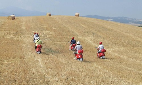 Vespa tour in Val d'Orcia!