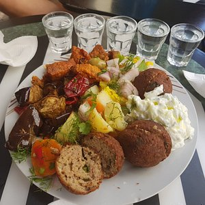 Greek tsipouro with mezze!