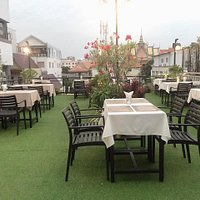 Our rooftop restaurant and beautiful view...