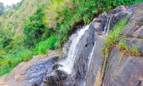 The waterfall is nearby Rockvila Guest House( Best 150m)