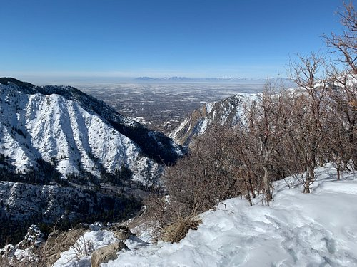 View from the top of Ogden Canyon Overlook Trail in February