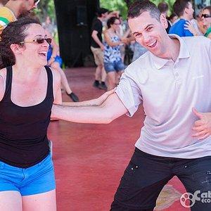Social dancing in the summer