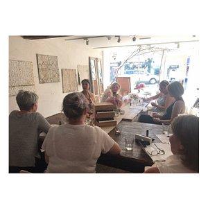 a workshop at Didier and dandelion