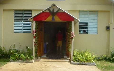 Entrance of St Mary Catholic Church, Revival, Jamaica