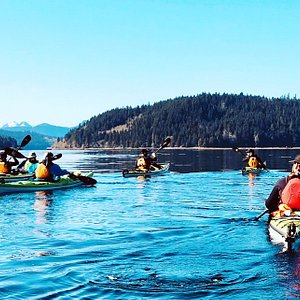 Paddling in the protected waters of Barkley Sound