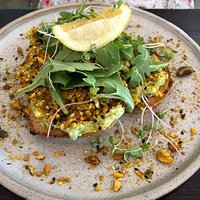 The Smash - smashed avocado on sourdough with crushed pistacchios