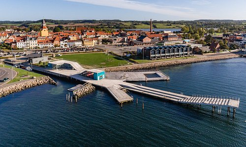 The Harbour Bath of Faaborg. Open all year.