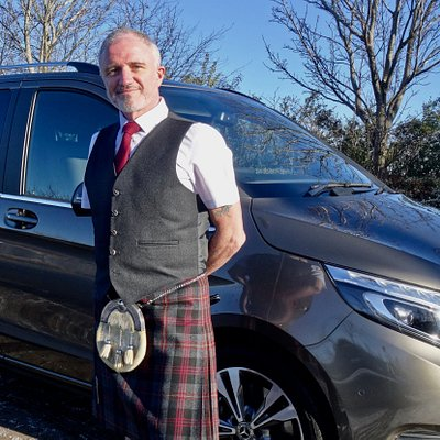 Andy - one of the driver/guides at Edinburgh CabTours