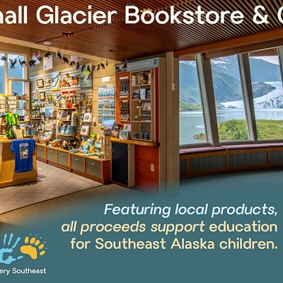 The bookstore and gift shop at the Mendenhall Glacier has Juneau's best selection of local merchandise and authentic glacier gear.  Best of all, all proceeds support education for local children.