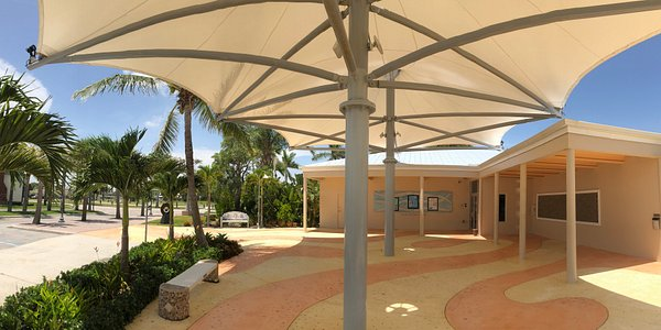 View of the A.E. Backus Museum & Gallery from the Outdoor Mural Plaza, Historic Downtown Fort Pierce