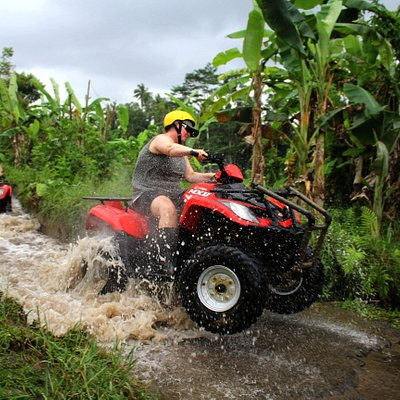 Best Trek of Bali ATV Ride trough the river, jungle, villages, rice terrace and beautiful panorama