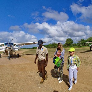 Our customers arriving, from Zanzibar airport to Selous National Park
