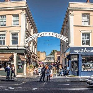 Greenwich Market main entrance Greenwich Church Street into Durnford Street. @edsimmons